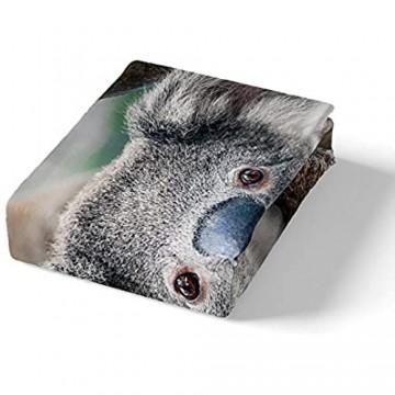 Koala Tröster Abdeckung 3d Koala Bär Druck Bettwäsche Set Sonnenblume Bettbezug für Kinder Jungen Mädchen Erwachsene Gelb Blumenfeld NatÜRliche Rustikale Quilt Abdeckung 135×200 Kinderzimmer Dekor