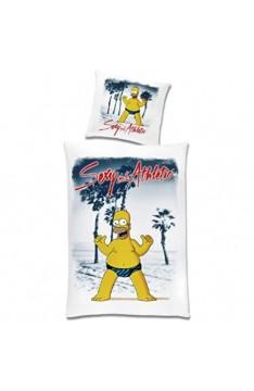 Unbekannt Bettwäsche für den Simpsons Fan: Homer als Playboy 100% Baumwolle Global Labels