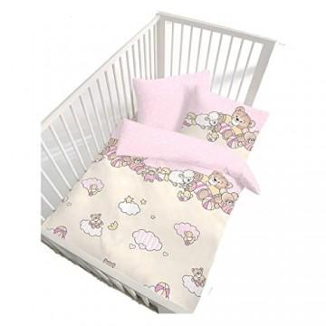 Unbekannt IDO Renforcé Bettwäsche 2tlg. Rosa Bären 27683-207 Bettbezug Kinder 40x60 cm / 100x135 cm