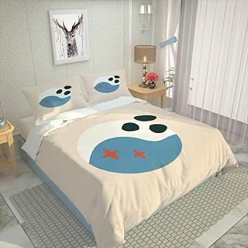 WEDSGTV Kinderbettbezug Einzel Doppelbezug Abstrakter Welpe 53.1x78.7 inch 3D Bettwäsche Set Kinder Muster Bettbezug Kissenbezug Twin Queen King 3St