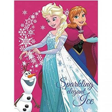 Frozen Eiskönigin Decke XXL Kuscheldecke Anna und ELSA Tagesdecke (Pink 120 x 150 cm)