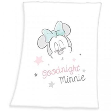 Herding Disney's Minnie Mouse Microfaserflausch-Decke Polyester weiß 75 x 100 cm