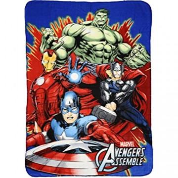 Marvel Avengers Fleece Decke Kuscheldecke 100x140cm (07202-3)