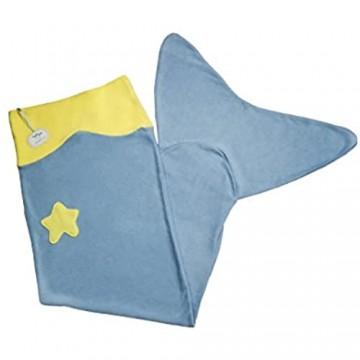 Ringelsuse Meerjungfrauen-Decke/Decke Meerjungfrau Kinder/Mädchen 42 x 132 cm Weicher Fleece Hellblau Türkis Gelb Fairtrade