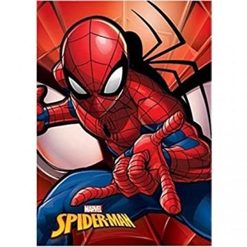 Spiderman Fleecedecke Referenz NI für Bett Tagesdecke und Tagesdecke Heimtextilien Unisex für Erwachsene Farbe