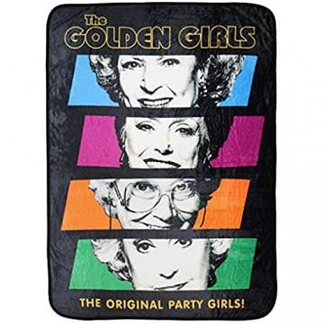 The Golden Girls The Original Party Girls Überwurfdecke aus Plüsch mit Gittermuster