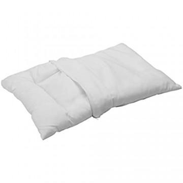 Pikolin Home Kopfkissen für Kinder mit Milbenbehandlung Abnehmbarer Bezug 100% Baumwolle hypoallergen und atmungsaktiv 55 x 35 cm