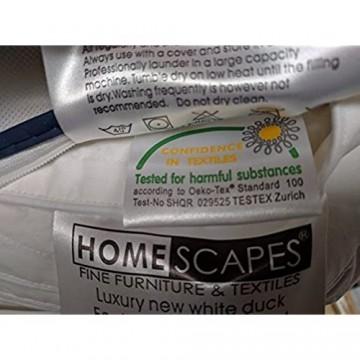 Homescapes warme Kinderbettdecke (120 cm x 150 cm) Wärmeklasse 3-4 100% daunenähnliche Super-Mikrofaser Oeko-Tex-Zertifiziert extra weiche Steppbettdecke waschbar hypoallergen milbensicher