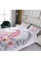 OLDBIAO Einhorn Bettdecke 135x200cm mit Kissenbezug Soft und Bequem Weiß Steppdecke Atmungsaktiv Decke 4 Jahreszeiten für Kinder Mädchen Weihnachten Geschenk