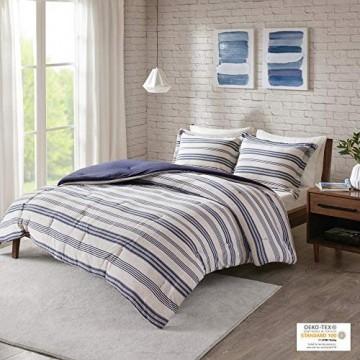 Urban Habitat Cole Ganzjahres-Daunen-Alternative Bettwäsche passende Kissenbezüge Full/Queen (223 5 x 233 7 cm) Marineblau 3-teilig