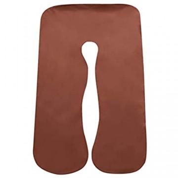 IrahdBowen Uförmiges Schwangerschaftskissen Körperkissen Kissenbezug Seitenschläferkissen Schwangerschaftskissenbezug Komfortabler Abnehmbarer Kissenbezug Für Mutterschaftskörper 80x140cm Favorable