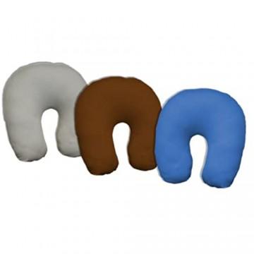 Dukal Bezug für Nackenhörnchen 45 x 12 cm aus hochwertigem DOPPEL-Jersey (100% Baumwolle) Farbe: grau