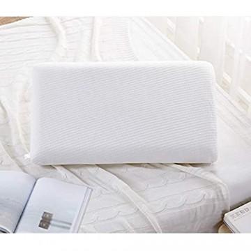 Memory Foam Kissen Langsames Rückprallkissen Dreieck Einhalskissen Hochwertiger Stoff für Erwachsene Mit Abnehmbarer Reißverschlussabdeckung (Color : Weiß Size : 40 * 60cm)
