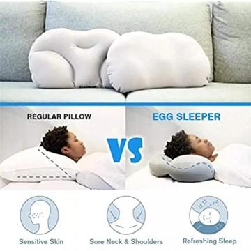 WDM Ergonomisches Kissen Orthopädische Memory-Foam-All-Round-Wolken-Kissen Für Nackenschmerzen Nackenmassage Kissen Eiförmige Kissen Für Seitenschläfer 1 pc