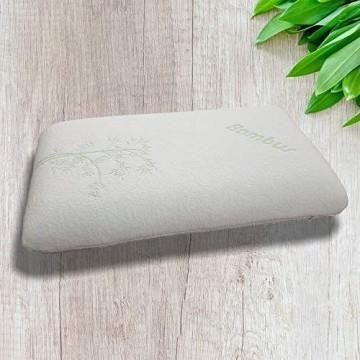 40x70cm Bambus Kopfkissen mit Kopf- und Nackenkontur Schlafkissen Nackenkissen Bambuskissen mit Memory-Schaum Effekt