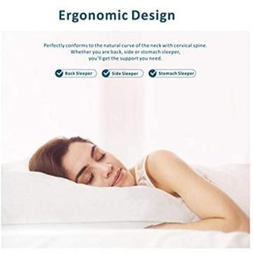 Baytion Latex Kissen Ergonomisches Kissen für Nackenschmerzen zum Schlafen mit Aufbewahrungstasche Kissen für Seitenschläfer und Rückenschläfer[100% Naturlatex][Atmungsaktivität] (70 * 40cm)