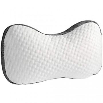 Möbel Jack Kontur Kopfkissen Bettkissen Schlafkissen | 60x36 cm | Polyester | Weiß | Viscoelastisch | Atmungsaktiv