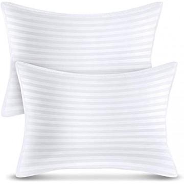 Utopia Bedding Premium KopfKissen (2er Set) - 50 x 70 cm Schlafkissen - Baumwollmischgewebe mit 900g Polyfaser Füllung - Atmungsaktiv et Weich Kissen (Weiß)
