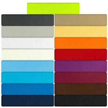 B&D Textiles GmbH Jersey Spannbettlaken Spannbetttuch Serie Maxi 140x200cm | 160x200cm Anthrazit 100% Mikrofaser hochwertige Verarbeitung mit Gummizug