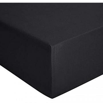 Basics - Spannbetttuch Jersey Anthrazit - 150 x 200 cm