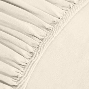 Basics - Spannbetttuch Jersey Beige - 180 x 200 cm