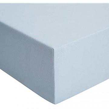 Basics - Spannbetttuch Jersey Hellblau - 80 x 200 cm