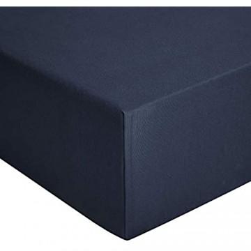 Basics - Spannbetttuch Jersey Marineblau - 160 x 200 cm