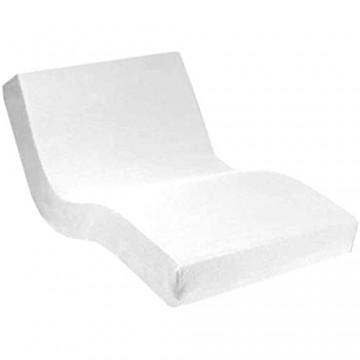 Dormabell Premium Spannbetttuch extra hoch (für Matratzen 25-35cm) speziell für Boxspring- oder Wasserbett entwickelt elastisch | Blickdicht | bügelfrei | langlebig (weiß 180 x 200 cm)