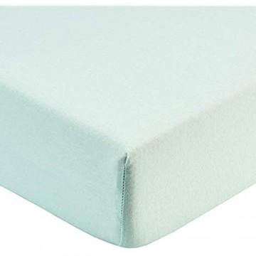 fleuresse Jenny C klassisches Jersey-Spannlaken 100% Baumwolle mit praktischem Rundumgummi Fb. Weiß Größe 120 x 200 cm auch passend für 110/130 x 200