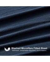 Hansleep Spannbettlaken 160x200 cm Blau Mikrofaser Bettlaken Atmungsaktive Matratzenschutz bis 38 cm Hohe Spannbetttuch mit Rundum-Gummi Matratzenbezug Geeignet für Allergiker