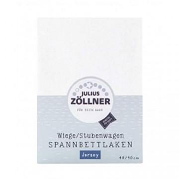 Julius Zöllner 8330047200 Jersey Spannbetttuch für Wiegen 90x40 und Stubenwagen Farbe: banana