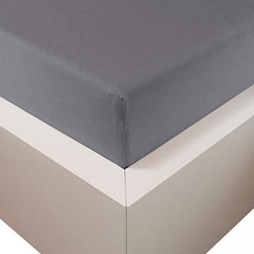 Traumschloss Edel-Jersey Spannbetttuch Premium Plus | Grau | Mako Baumwolle mit Lyocell & Elasthan | Bettlaken wärmt im Winter & kühlt im Sommer | hautsympatisch | 180-200 cm x 200-220 cm