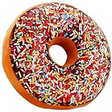 Adkwse Donut Soft Kissen Schokoladen Plüsch Zierkissen Kuschelkissen Extra Dick und Flauschig Dekoratives Kissen Dekorationen
