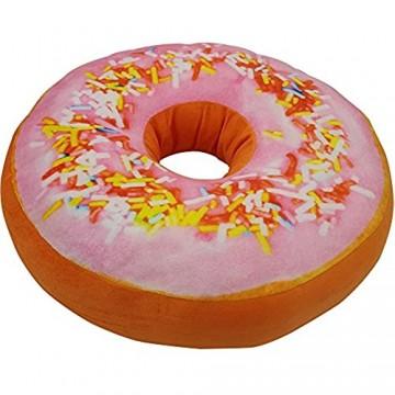 Donut Kissen 40 cm Super Softes Dekokissen dekoratives Zierkissen Sitzkissen extra dick und extra flauschig Variante wählbar Farbe:Rosa