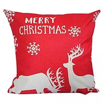 Hffan Kissen mit Weihnachtennmotiv lustig Weihnachten bricht durch Dekokissen Geschenk für Weihnachtennliebhaber Frauen Mädchen Kinder Zierkissen Füllung 45x45 Weiß Beige