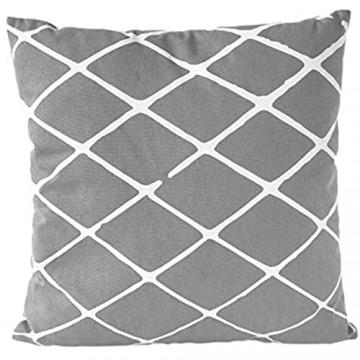 Nielsen Kissen Diamond 45x45 cm Bright White (grau/weiß) Baumwolle bedruckt gemustert Dekokissen modisches Kissen Sommerkissen Sofakissen Couchkissen Zierkissen Dekoration inkl. Füllkissen