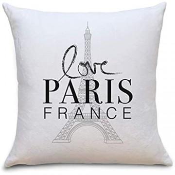 Paris France Flauschiges Kissen mit Aufdruck Geschenke Geschenkideen für Paris Liebhaber zum Geburtstag Weihnachten Zierkissen mit Füllung