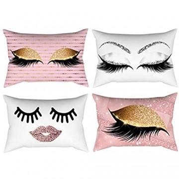 30x50 cm Dekoration Zierkissenbezüge Augenbraue Muster Kissenbezug Sofa Komfortable Kissenbezug Taille Wurf Home Decor(G)