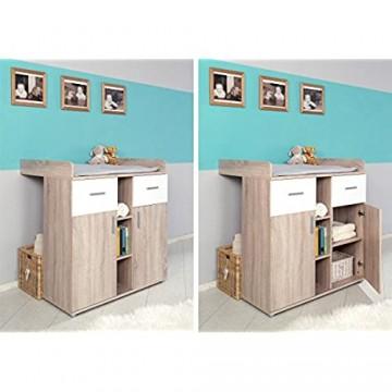Babyzimmer Kinderzimmer komplett Set Komplettset ELISA 2 in Eiche Sonoma Weiß