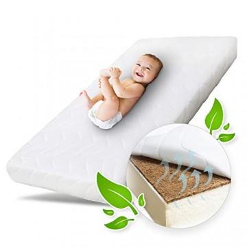 Ehrenkind® Babymatratze Kokos | Babymatratze 60x120cm | Matratze 120x60 mit hochwertigem Schaum Kokosplatte und Hygienebezug