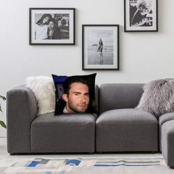 Adam Levine Kissen – Pop Art – Kissenbezug aus Leinen – Einzelbett – ohne Füllung – 40 x 40 cm (nur Bezug)