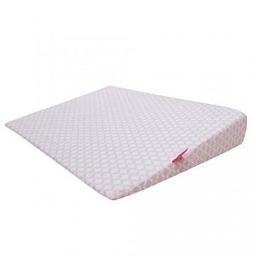 Baby Keilkissen 60x45 cm inkl. abnehmbaren Bezug aus 100% Baumwolle und wasserdichte luftdurchlässige Moltonunterlage aus Baumwolle unter dem Bezug rosa classiscs