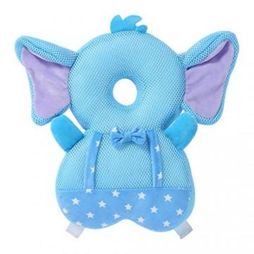 Babykopfkissen Helm Schutz Rucksack Summer Breathable Mesh Plaid Baby Kleinkind Baby Kopf Rückenschutz Sicherheitsmatte Anti-Fall Kopfschutz Kissen Kissen