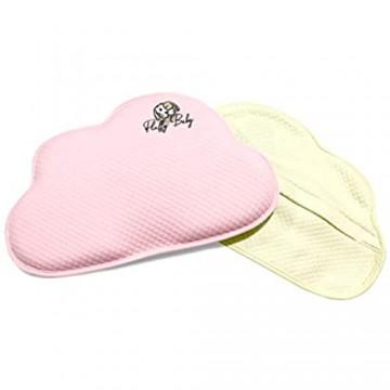 Fluffy Baby Perfect Pillow – Orthopädisches Babykissen für Neugeborene/Säuglinge – Gegen Flachkopf/Plattkopf/Kopfverformung (Plagiozephalie)- 2 Bezüge - Gedächtnisschaum -gelb/rosa
