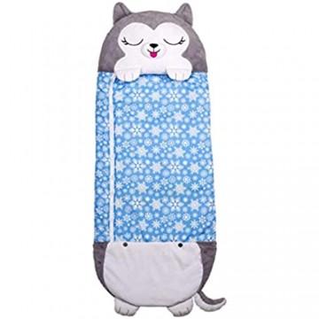 Happy Nappers 2-in-1 Kopfkissen verwandelt Sich in einen Schlafsack Husky