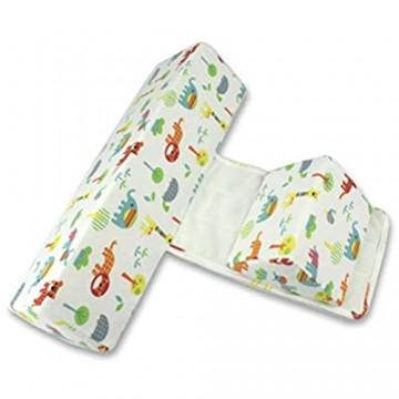 Holmeey Baby Seite Schlafkissen Abnehmbares und waschbares Anti-Rolling-Seitenkissen Babykissen Soft Side Support Pillow Verstellbares Babyschlafkissen für Babys