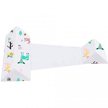HXRRB Seitenstützkissen für Baby Baby Anti Plattkopf Kissen Abnehmbares Waschbares Baby-Dreieck Keil Seite Schlafkissen für Neugeborenes Säugling