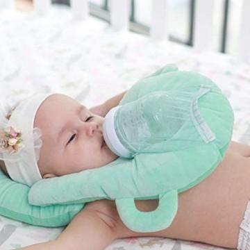 RANRAN Baby Stillkissen Ergonomisches Baby Kopfkissen Säuglings Anti-Rollover Matratze Kissen Baby-Anti-Spuck-Milchkissen Babykopfkissen Gegen Plattkopf Und Kopfverformung Grün