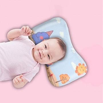RANRAN Ergonomisches Baby Kopfkissen Babykissen Für Flachkopf-Syndrom Babykopfkissen Gegen Plattkopf Und Kopfverformung Baby Styling Nackenkissen Säuglingskissen Neugeborenes