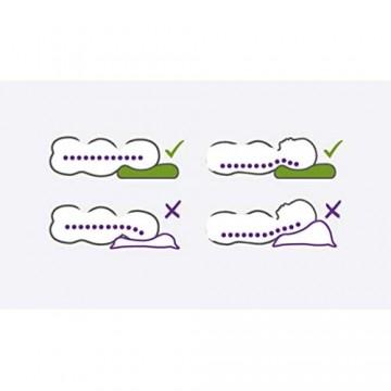 Träumeland T065101 Kinderkissen Premium - atmungsaktives und mitwachsendes Kissen für gleichmäßige Druckverteilung und optimale Unterstützung der Halswirbelsäule mehrfarbig